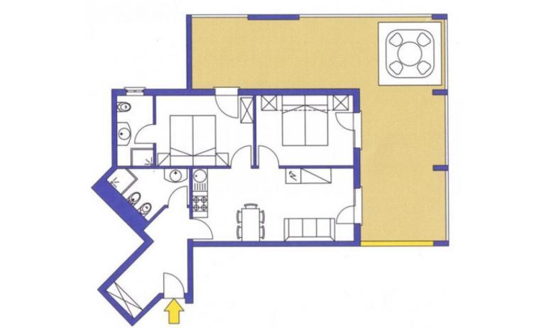 aparthotel ASHANTI: C5 Suite - planimetria