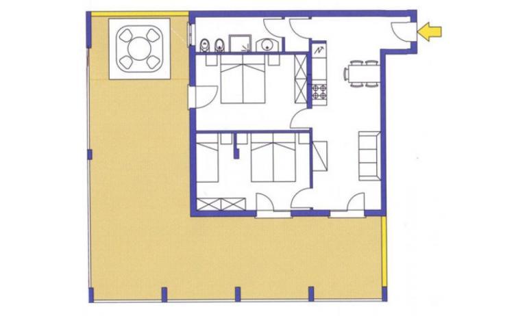 aparthotel ASHANTI: C6 Suite - planimetria