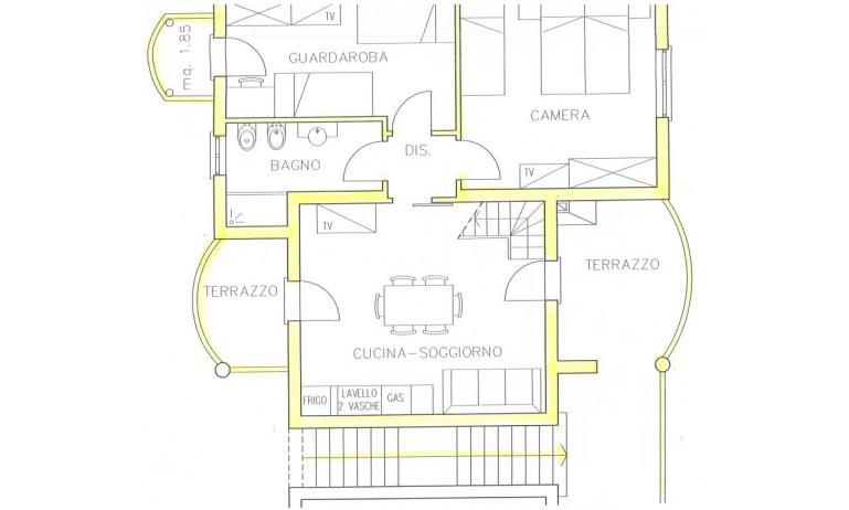 residence TULIPANO: D8 - planimetria