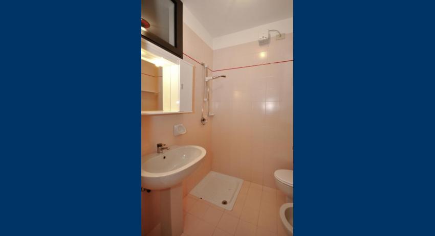 B5/S - salle de bain avec rideau de douche (exemple)
