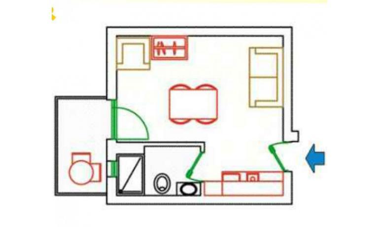 residence KATJA: A3/M - planimetria