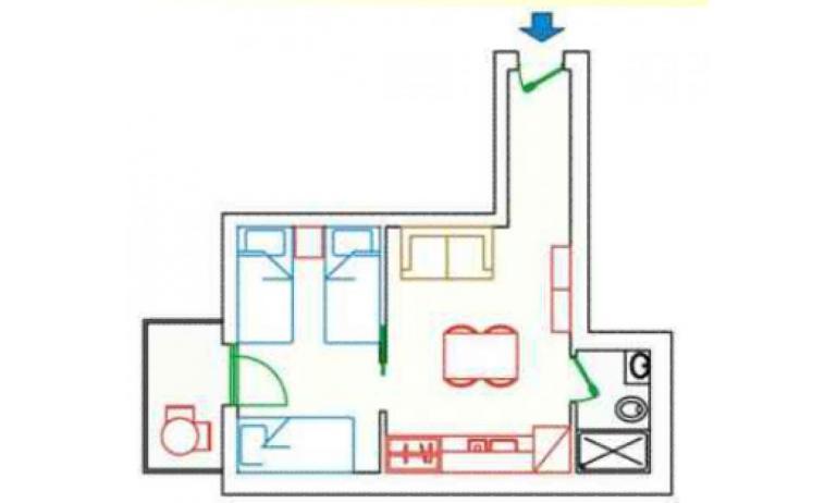 residence KATJA: A4/M - planimetria