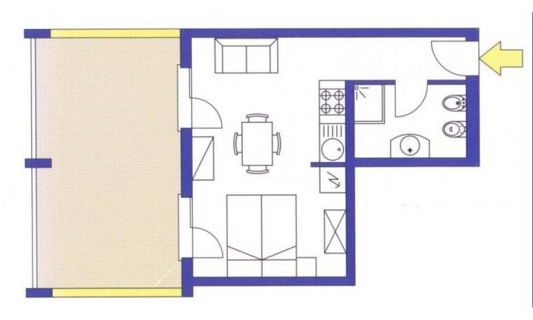 aparthotel ASHANTI: A2 Nord - planimetria 1 (esempio)