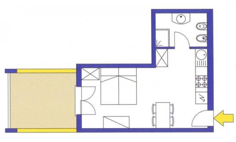 aparthotel ASHANTI: A2 Nord - planimetria 3 (esempio)