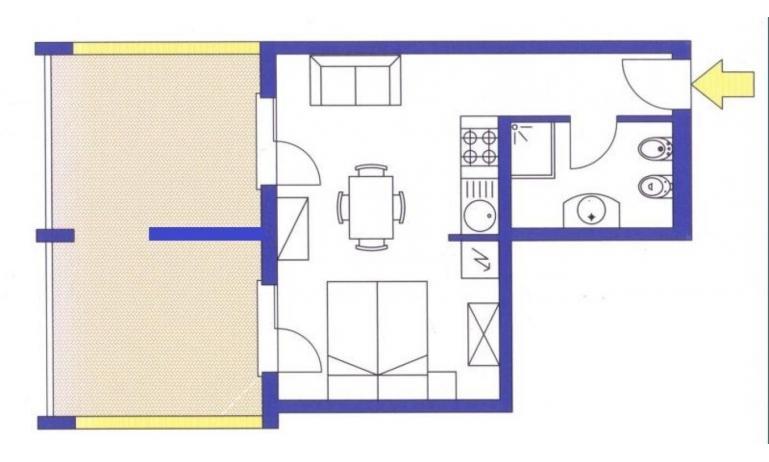 aparthotel ASHANTI: A2 Sud - planimetria 2 (esempio)
