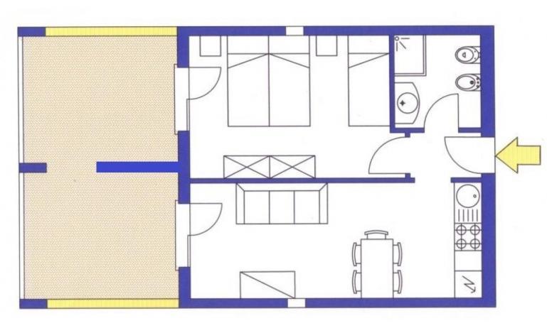 aparthotel ASHANTI: B4 Nord - planimetria 2 (esempio)