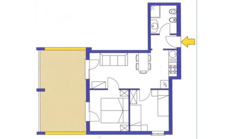 aparthotel ASHANTI: C5 Sud - planimetria 1 (esempio)
