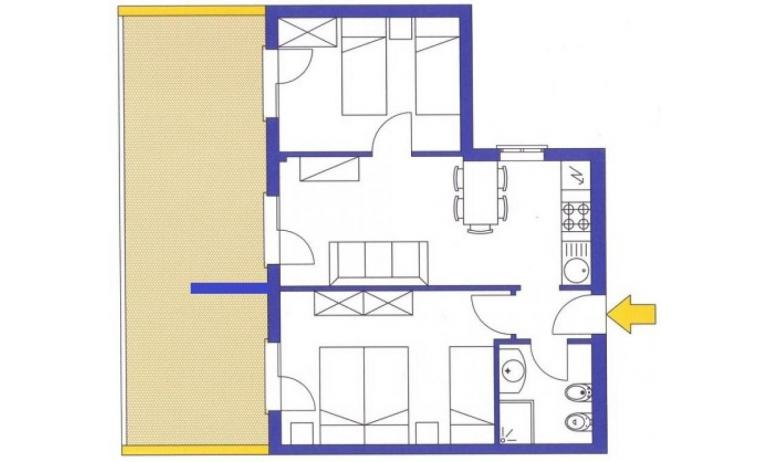 aparthotel ASHANTI: C6 Nord - planimetria 2 (esempio)