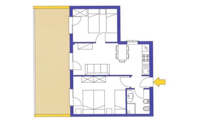 aparthotel ASHANTI: C6 Sud - planimetria 1 (esempio)