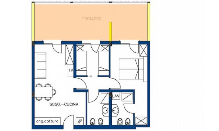 aparthotel ASHANTI: C6 N2 - planimetria 2 (esempio)